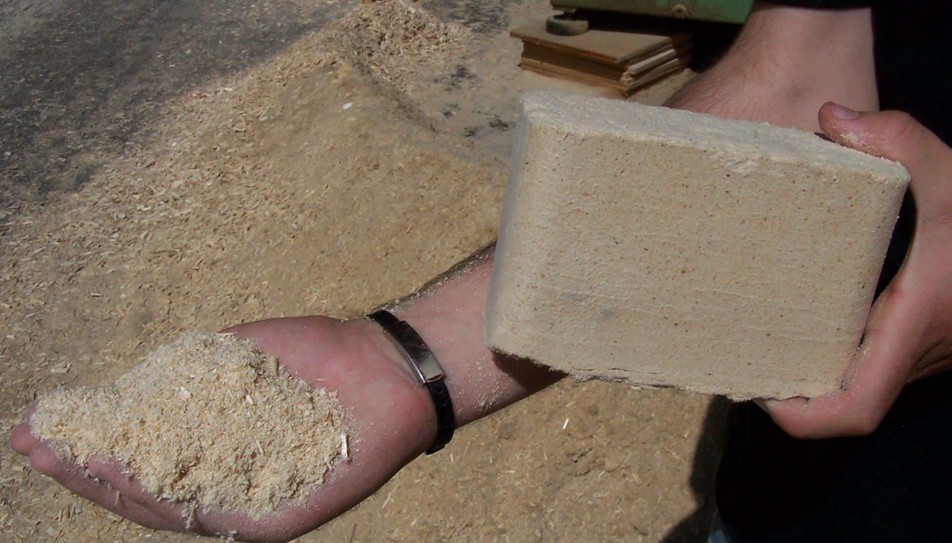 sawdust to briquette