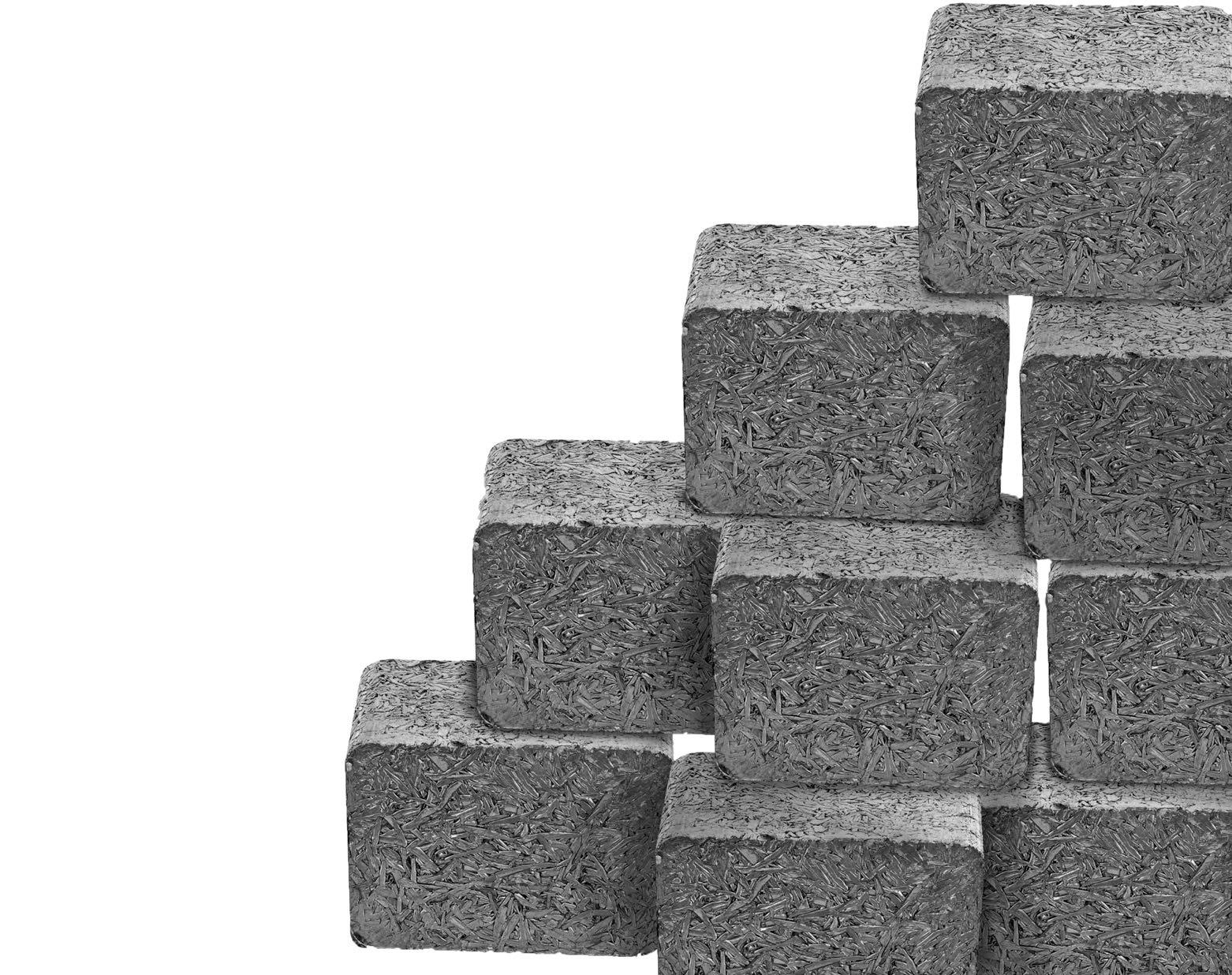 square aluminum briquettes stacked