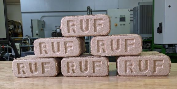 Wood Briquettes with RUF stamp
